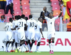 Ghana-Black-Stars-in-goal-celebration